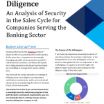 Security Due Diligence: An Analysis of Security in the Sales Cycle for Companies Serving the Banking Sector (Whitepaper)