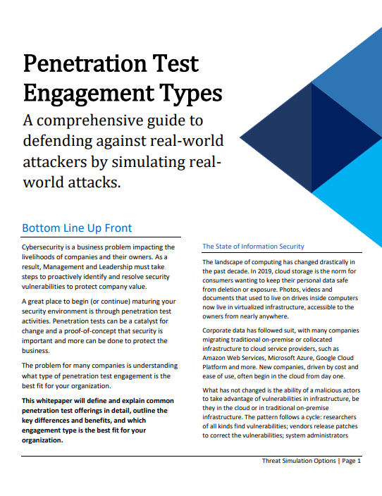 Penetration Test Engagement Types: A Comprehensive Guide to