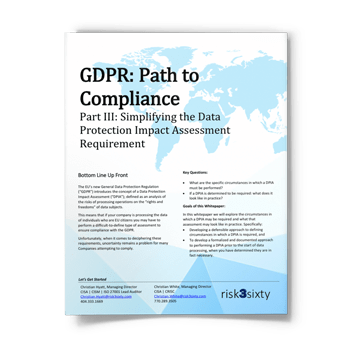 GDPR: Simplifying the Data Protection Impact Assessment Requirement