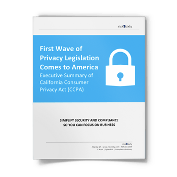 Executive Summary of the California Consumer Privacy Act (CCPA)