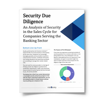 Security Due Diligence: An Analysis of Security in the Sales Cycle for Companies Serving the Banking Sector