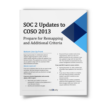 What SOC 2 Updates to COSO 2013 Mean for You