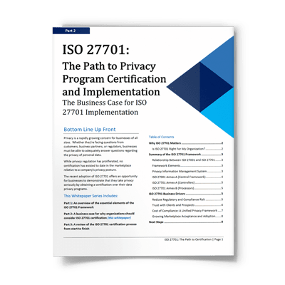 ISO 27701: The Business Case for ISO 27701 Implementation