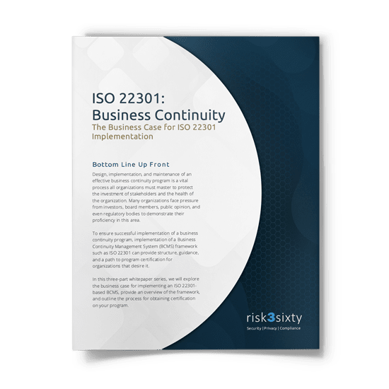 ISO 22301 Business Continuity