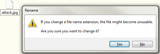 Example File Pop Up