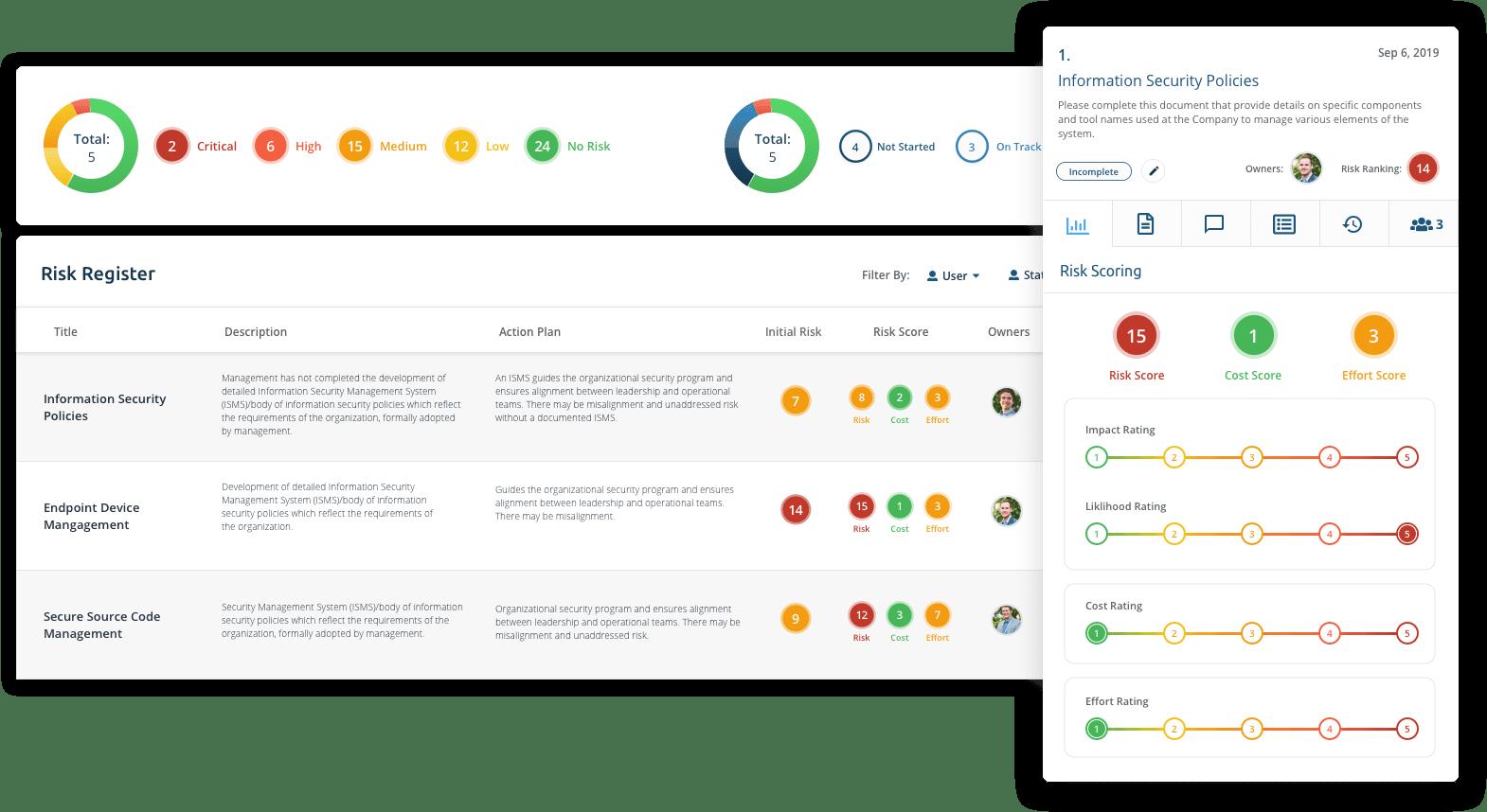 Risk Register Screen